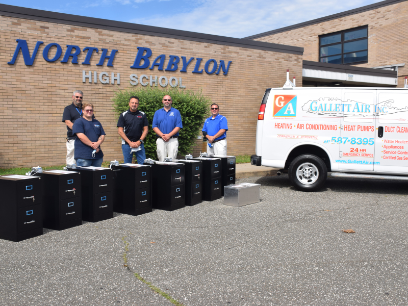 North Babylon HS Receives Generous Donation to Improve Safety