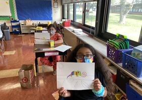 First week of art at Belmont Elementary School