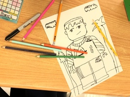Students at Parliament Place design LEGO self-portraits